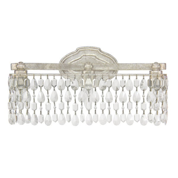 Shop Capital Lighting Traditional 3 Light Antique Silver Bath Vanity Light Free Shipping Today