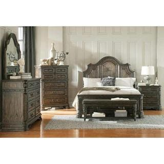 armada 7 piece dark brown bedroom furniture set - Wood Bedroom Sets