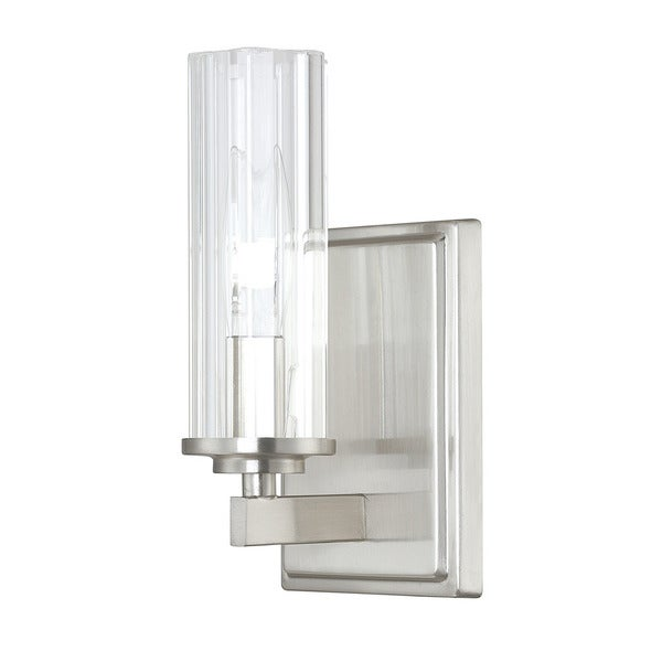 Capital Lighting Donny Osmond Emery Collection 1 Light Brushed Nickel Wall  Sconce