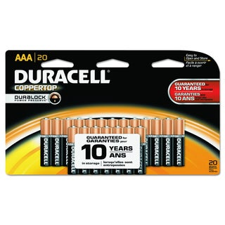 Duracell CopperTop AAA Alkaline Batteries with Duralock Power Preserve Technology (Pack of 20)