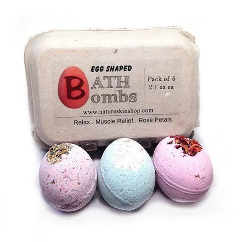 Handmade Egg Shaped Relax Bath Bombs (6 Pack)