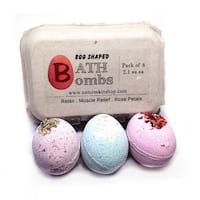 Handmade Egg Shaped Relax Bath Bombs (6 Pack)