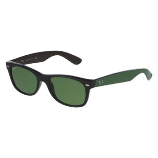 Ray-Ban Unisex RB2132 Matte Black/ Green Lens Wayfarer Sunglasses
