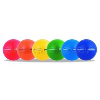 Champion Sports Assorted 7 inch Diameter Rhino Skin Dodge Ball Set (Set of 6)