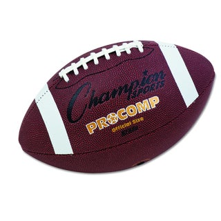 Champion Sports Brown Pro Composite Intermediate Size Football