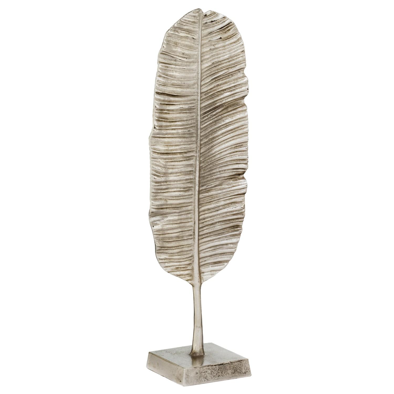 Accents Sombra Palm Leaf Sculpture (rough silver) (Aluminum)