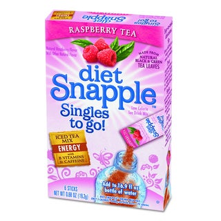 Snapple Diet Raspberry Tea Iced Tea Singles To-Go (Pack of 72 Sticks)