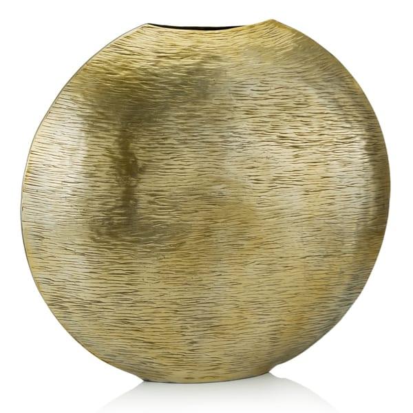 Gordo Large Gold Metallic Vase Free Shipping Today Overstock