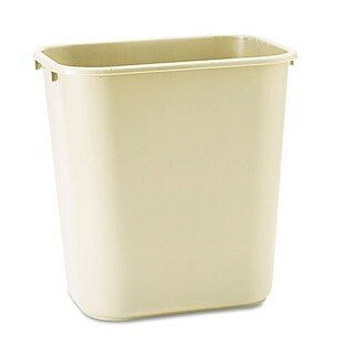 Rubbermaid Commercial Beige Deskside Plastic Wastebasket