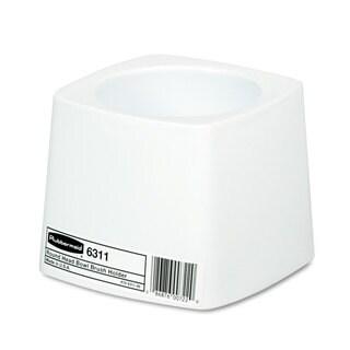 Rubbermaid Commercial White Plastic Holder for Toilet Bowl Brush