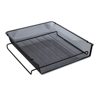 Universal One Black Mesh Stackable Front Load Tray (Pack of 4)