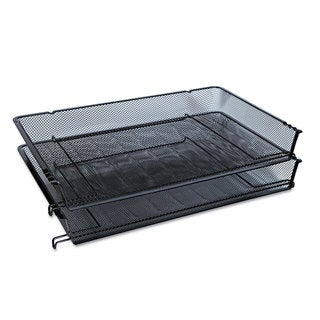 Universal One Black Mesh Stackable Side Load Tray (Pack of 4)