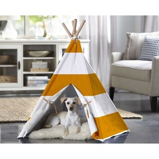 Merry Products Orange Stripe Pet Teepee