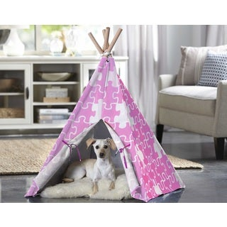 Merry Products Pink Puzzle Pet Teepee