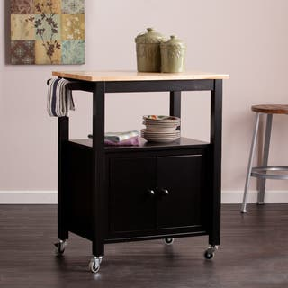 Harper Blvd Kitney Black Kitchen Cart|https://ak1.ostkcdn.com/images/products/10400477/P17502746.jpg?impolicy=medium