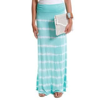 Hadari Women's Contemporary Tie-Dye Foldover Maxi Skirt