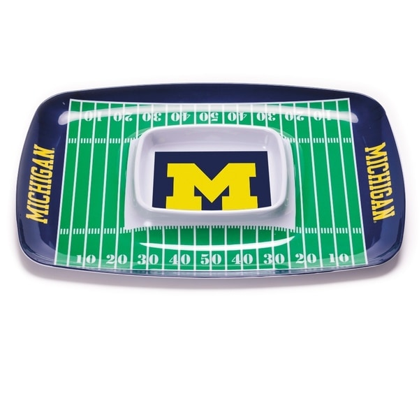 Michigan Wolverines Chip and Dip Tray
