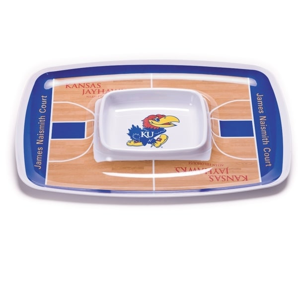 Kansas Jayhawks Chip and Dip Tray