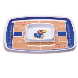 Kansas Jayhawks Chip and Dip Tray