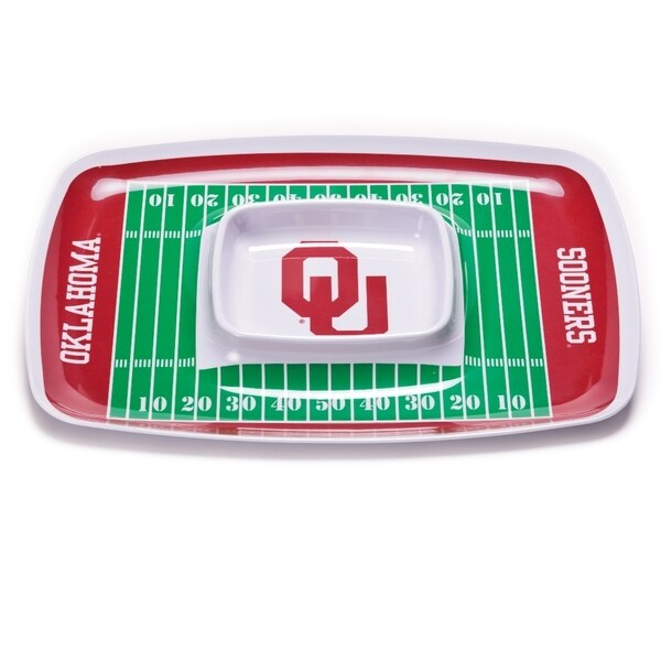 Oklahoma Sooners Chip and Dip Tray