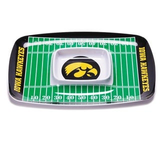 Iowa Hawkeyes Chip and Dip Tray - Black