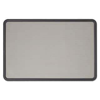 Quartet Contour Gray Fabric Bulletin Board