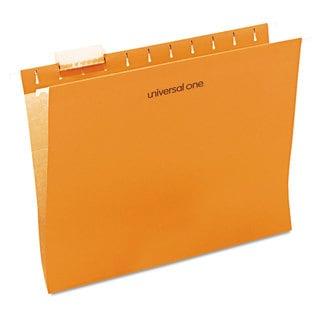Universal One Orange Hanging File Folder (2 Packs of 25)