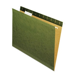 Universal One Standard Green Reinforced Recycled Hanging Folder (2 Packs of 25)
