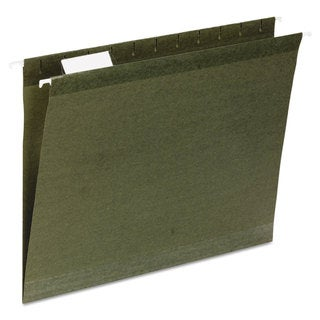 Universal One Reinforced Standard Green Recycled Hanging Folder (2 Packs of 25)