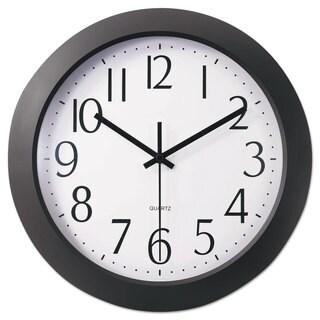 Universal One Black Whisper Quiet Clock (Pack of 2)