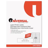 Universal White Laser Printer Permanent Labels (Box of 5000)