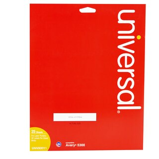 Universal White Laser Printer File Folder Labels (2 Packs of 750)