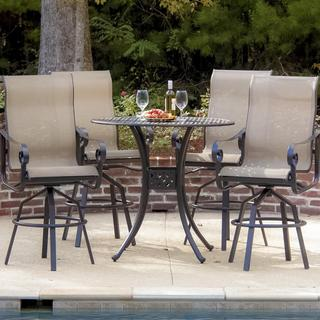 La Salle 4-person Sling Patio Bar Set