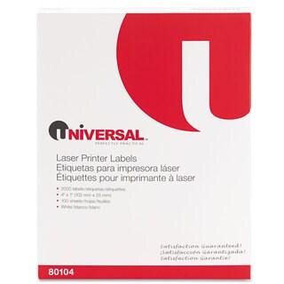 Universal White Laser Printer Permanent Labels (2 Packs of 2000)