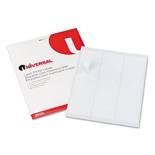 Universal White Laser Printer Permanent Labels (5 Packs of 750)
