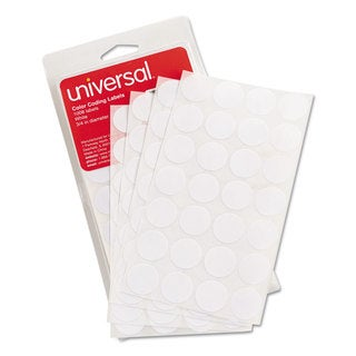 Universal White Permanent Self-Adhesive Color-Coding Labels (10 Packs of 1008)