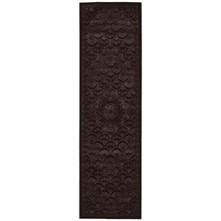 Nourison Regal REG08 Hand-tufted Area Rug (23 x 8 Runner - Black)