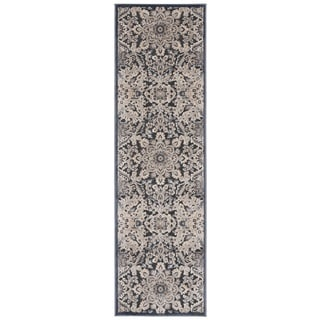 kathy ireland Bel Air Euro Century Marseille Charcoal Area Rug by Nourison (2'1 x 7')
