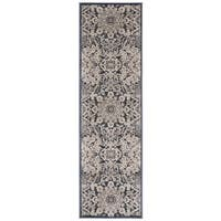 kathy ireland Bel Air Euro Century Marseille Charcoal Area Rug by Nourison - 2'1 x 7'