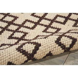 Barclay Butera Maze Beige Brown Area Rug by Nourison (2'3 x 3'9)