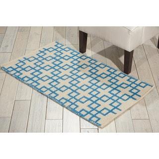 Barclay Butera Maze Beige Blue Area Rug by Nourison (2'3 x 3'9)