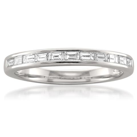 Montebello Platinum 1/2ct TDW Diamond Channel-set Wedding Band