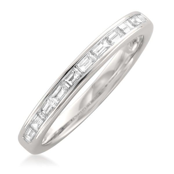 Montebello Platinum 1 2ct Tdw Baguette Cut White Diamond Channel Set Wedding Band Free Shipping Today 17502810