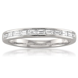 Montebello Platinum 1/2ct TDW Baguette-cut White Diamond Channel-set Wedding Band (G-H, VS1-VS2)