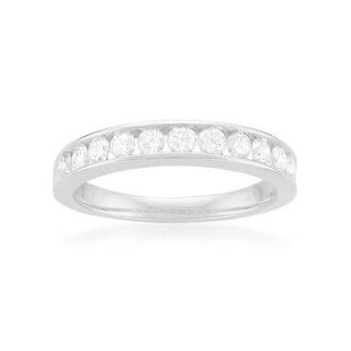Montebello Platinum 1/2ct TDW Round-cut White Diamond Channel-set Wedding Band (G-H, SI1-SI2)