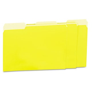 Universal Yellow Recycled Interior File Folders (Box of 100)