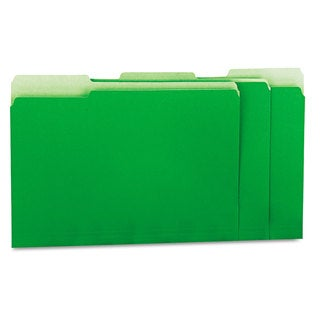 Universal Green Recycled Interior File Folders (Box of 100)