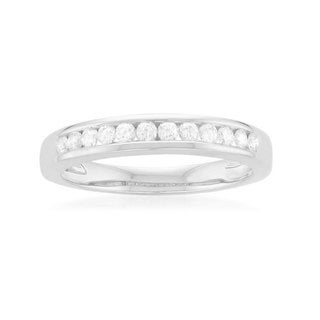 Montebello Platinum 1/4ct TDW Round-cut White Diamond Channel-set Wedding Band (H-I, SI1-SI2)