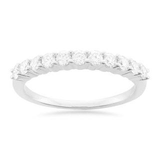 Montebello Platinum 1/2ct TDW Round-cut White Diamond Wedding Band