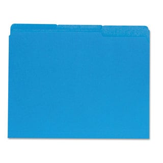 Universal Blue Recycled Interior File Folders (Box of 100)
